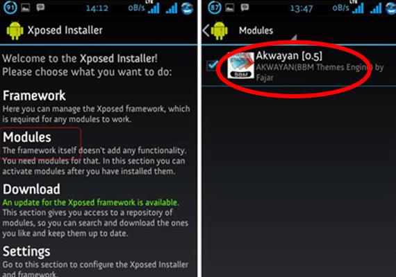 Aktifkan Module Akwayan Melalui Xposed - Drio AC, Dokter Android