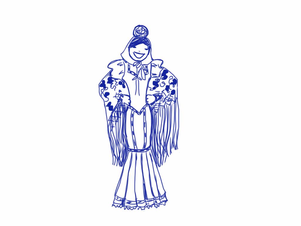 chulapa madrid drawing
