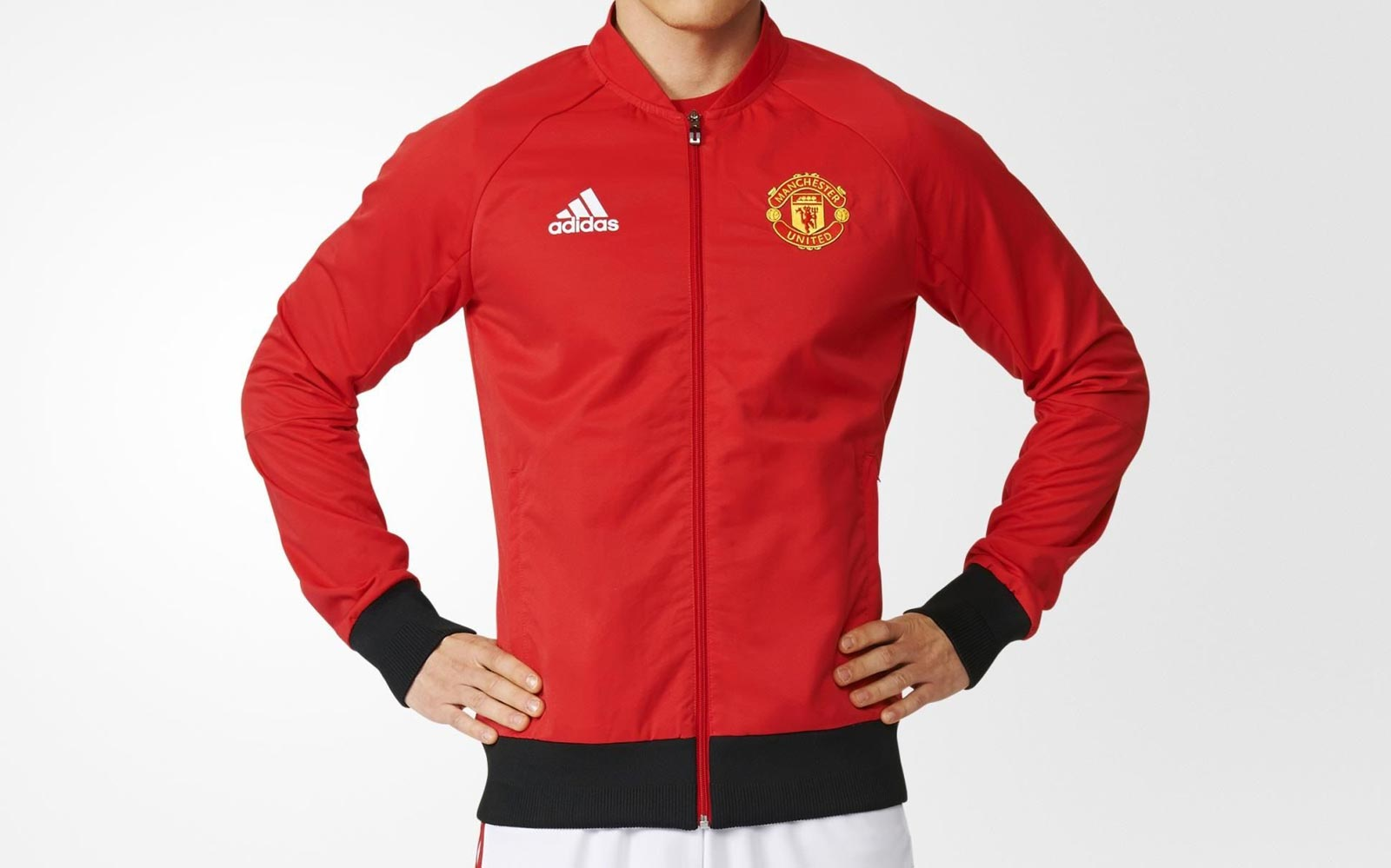 manchester united anthem jacket white
