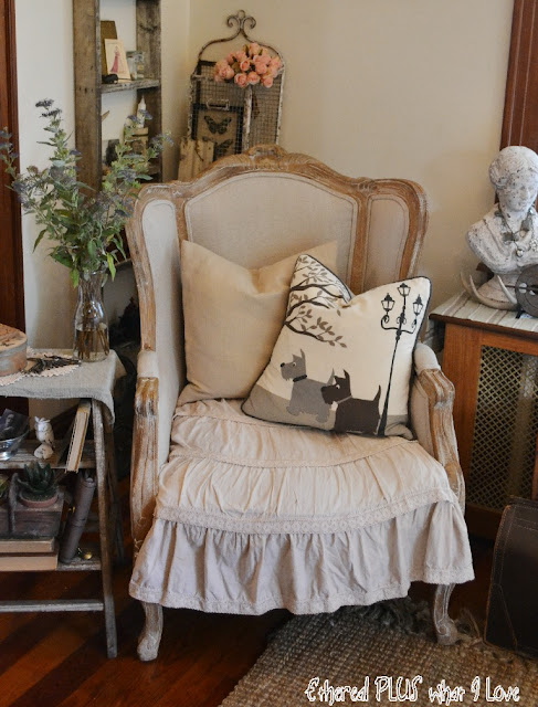 Vintage Style Living Room from Ethereal Plus What I Love