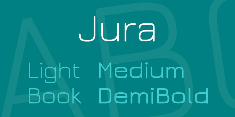 http://www.google.com/fonts/specimen/Jura