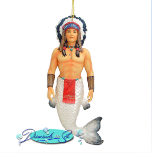 Your Daily Combo Merman-Indian Chief Christmas Ornament | Native ...