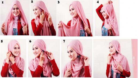 cara memakai jilbab simpel segi empat terbaru