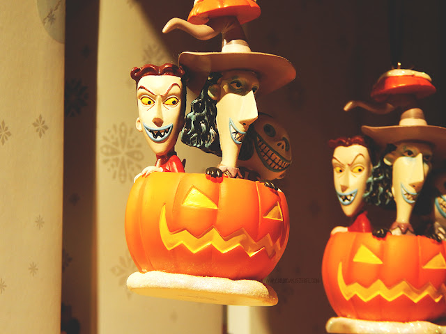 Lock, Shock, and Barrel from Nightmare before Christmas in a jack'o'lantern