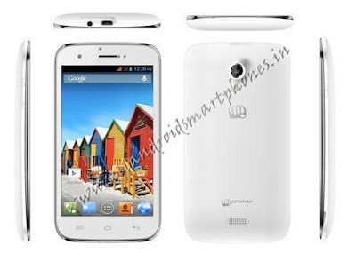 Micromax A115 Canvas 3D White Front & Back Images & Photos.