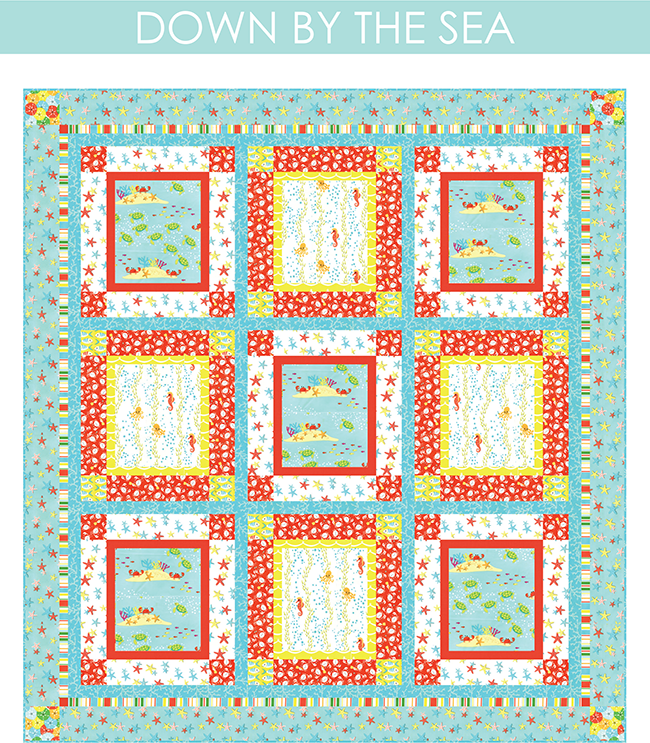 http://www.michaelmillerfabrics.com/inspiration/freequiltpatterns/down-by-the-sea.html