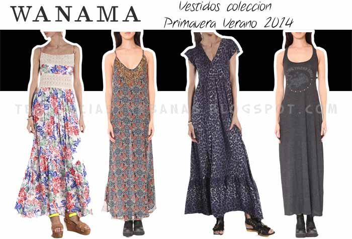 vestidos largos Wanama verano 2014
