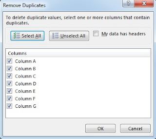 Excel remove duplicate