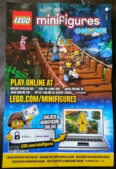 LEGO Series 12 minifigures online code leaflet