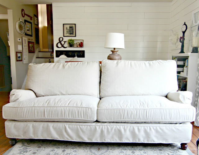 Birch Lane Montgomery slipcovered sofa - www.goldenboysandme.com
