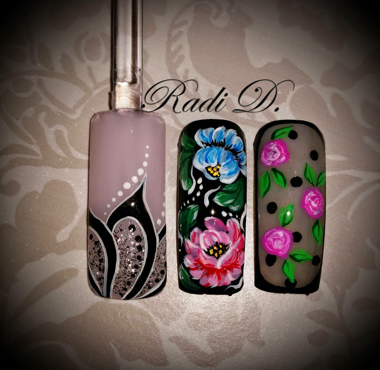 Its All About Nails Zhostovo Painting