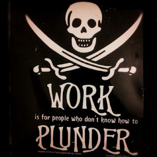 Pirate sign reading work is for people who don't know how to plunder