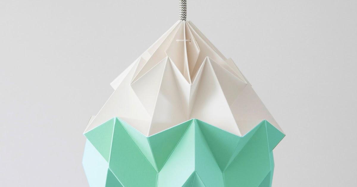 island of white lampes en papier vive l 39 origami. Black Bedroom Furniture Sets. Home Design Ideas