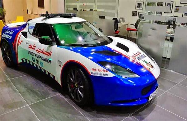 في دبي فقط .. أسرع سيارة إسعاف في العالم
