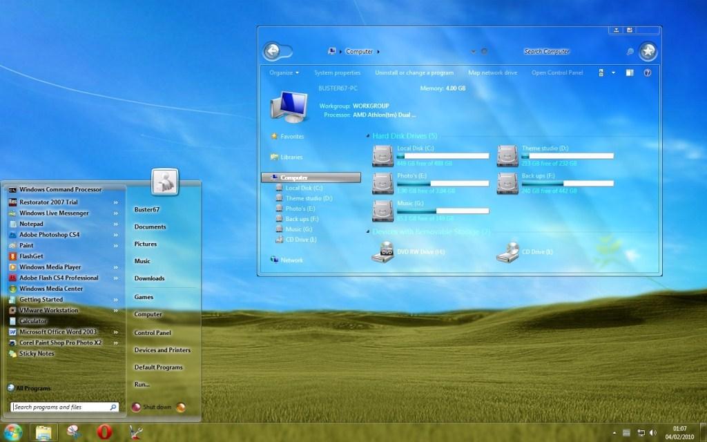 Angga Priya Utama ? ? ?: Cara Merubah Tampilan Windows 7 Menjadi Full Glass