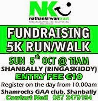Nathan Kirwan 5k charity run/walk, Shanbally