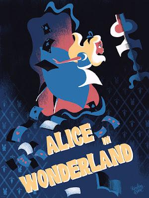 Disney's Alice in Wonderland Screen Print by Lorelay Bové x Cyclops Print Works