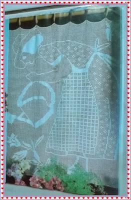 Cortina de crochê filé