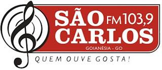 ouvir a Rádio São Carlos FM 103,9 Goianésia