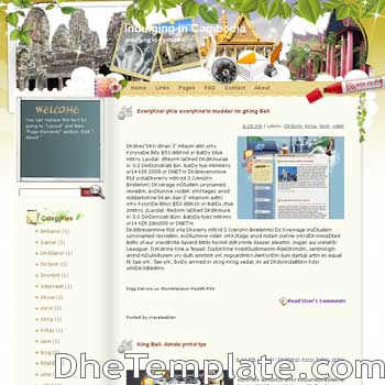 Indulging in Cambodia blogger template