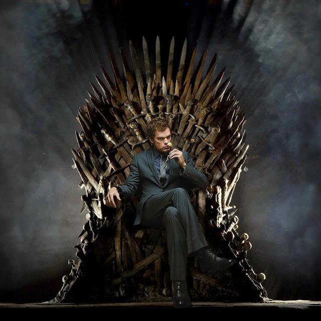 Dexter Morgan trono de hierro - Juego de Tronos en los siete reinos