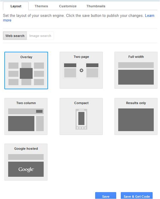 Google Custom Search Customization