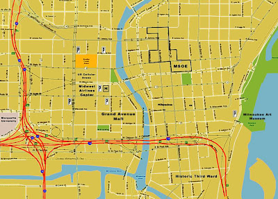 downtown Milwaukee map