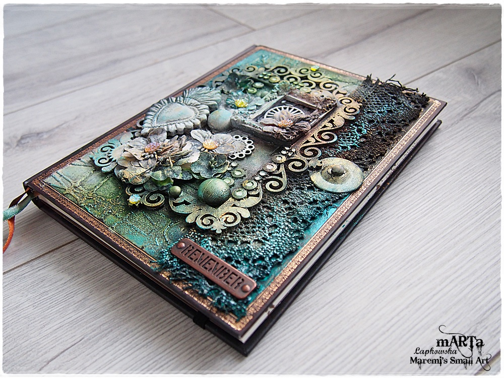 Steampunk Book Cover Tutorial : Marta lapkowska mixed media journal cover video