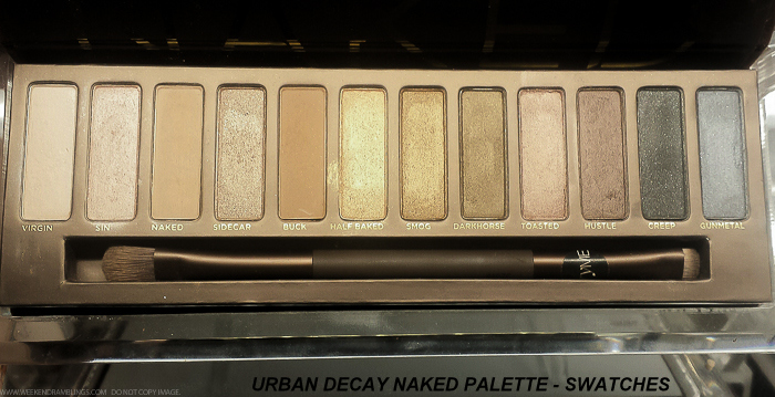 Urban Decay Naked Eyshadow Palette - Swatches