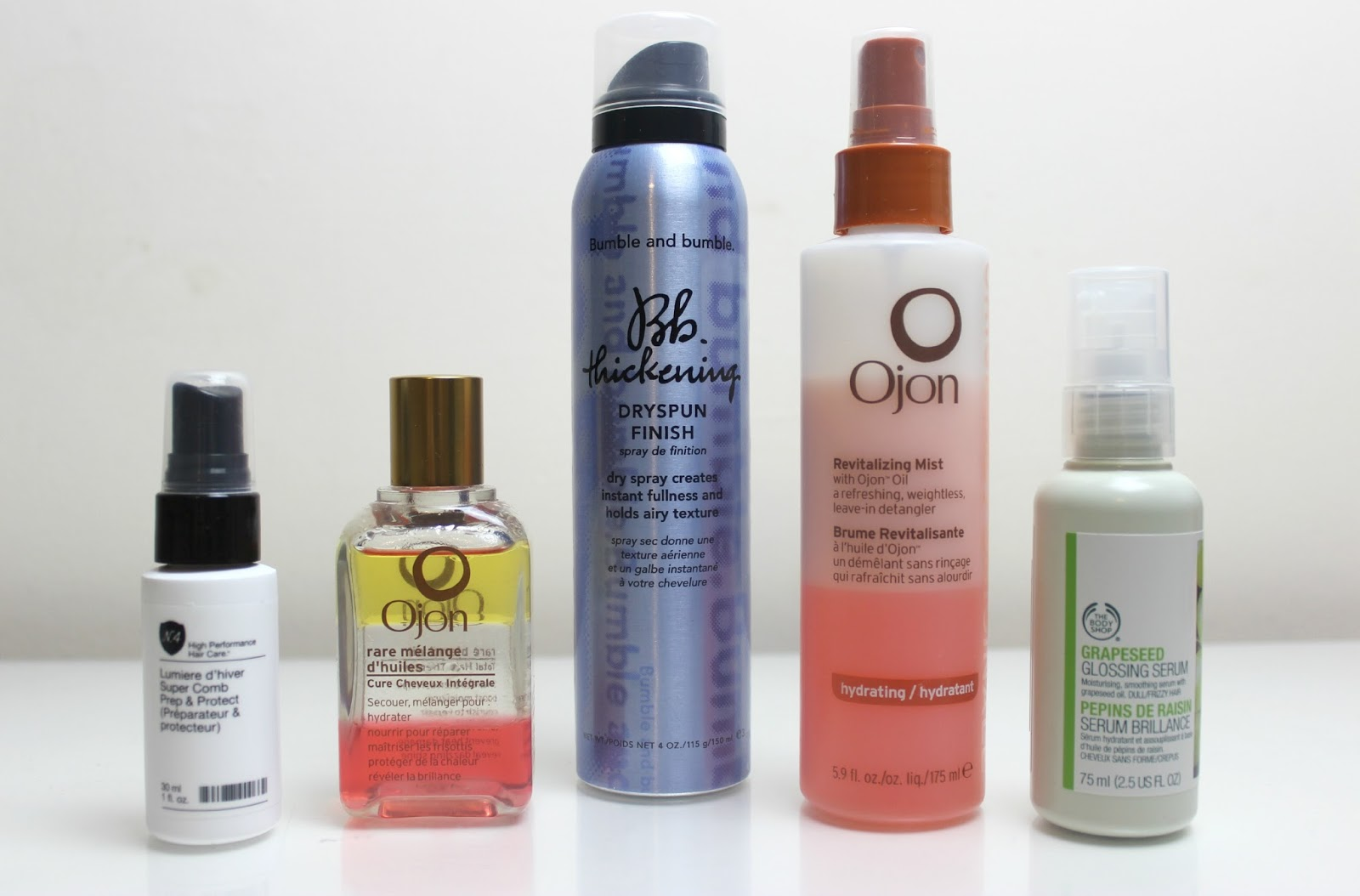 A picture of the best hair care products of 2014