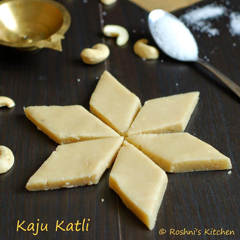 Roshni's Kitchen: Kaju Katli - Cashew Fudge - Vegan ...