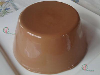 Flan de chocolate con agar-agar.