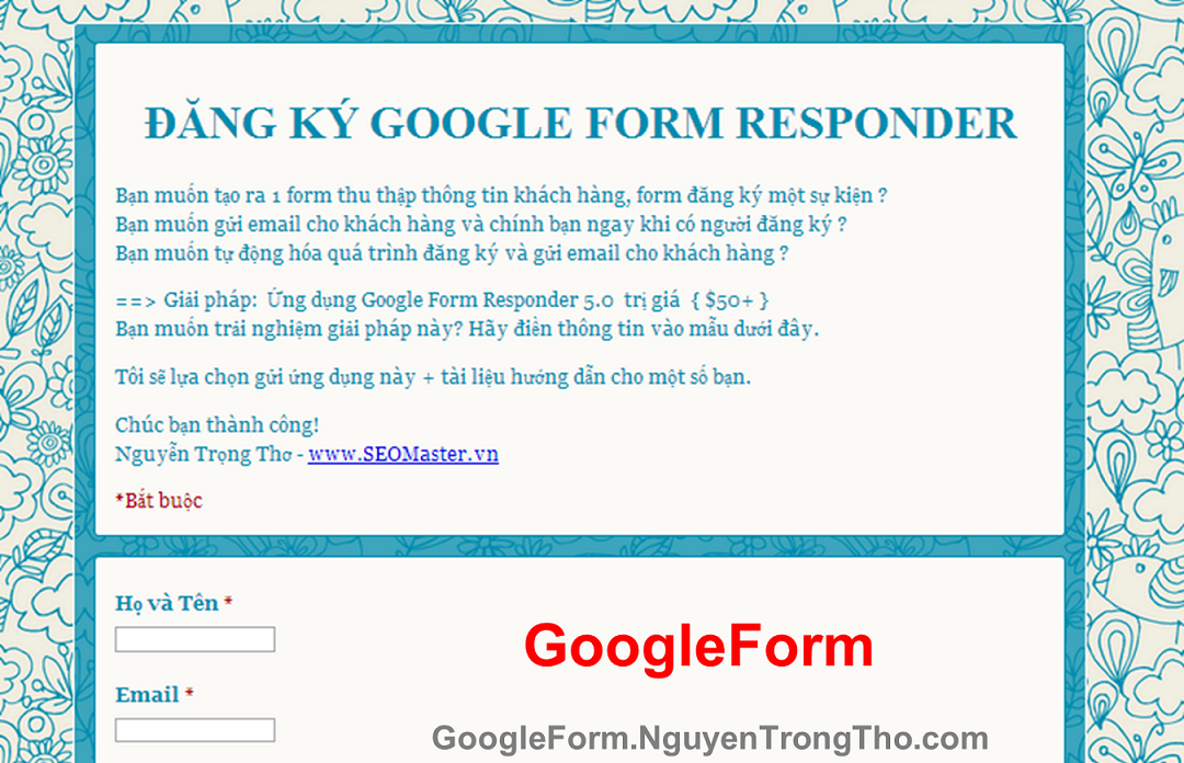 Demo Google Form Responder