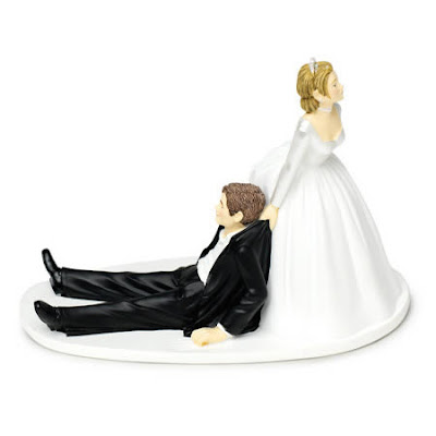 Muñecos para pastel de boda muy divertidos.