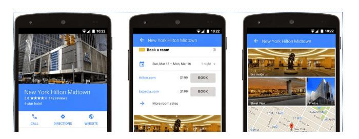 Tampilan iklan hotel pada google