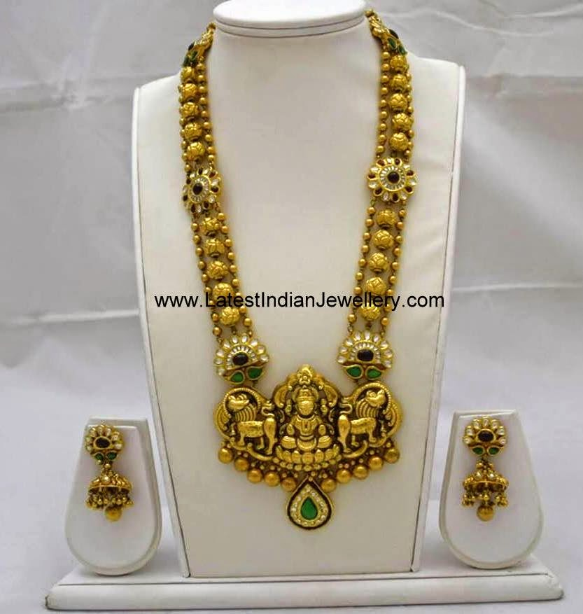 Heavy Gold Lakshmi Haram