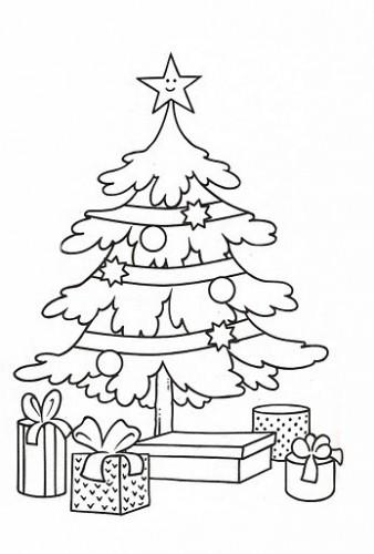 La navidad dibujos para colorear ciclo escolar for Dibujo arbol navidad
