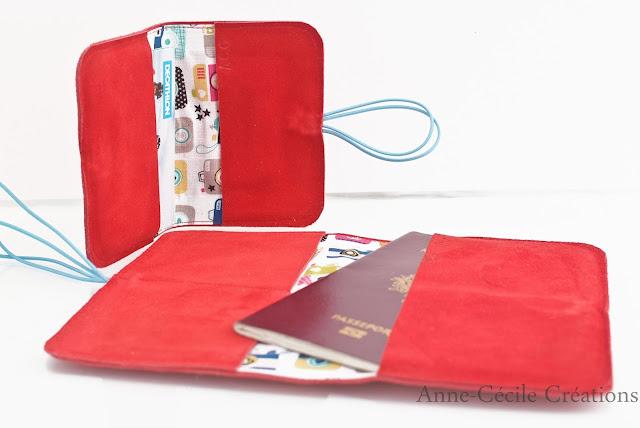 portefeuille daim rouge ensemble
