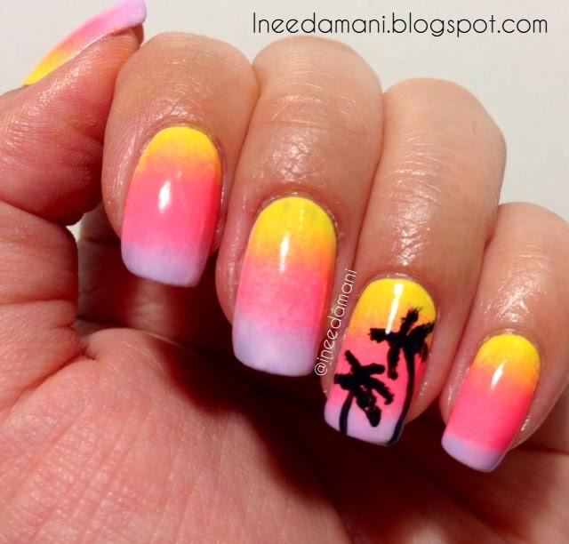 Nail Polish Addict: Sunset and Palm Trees