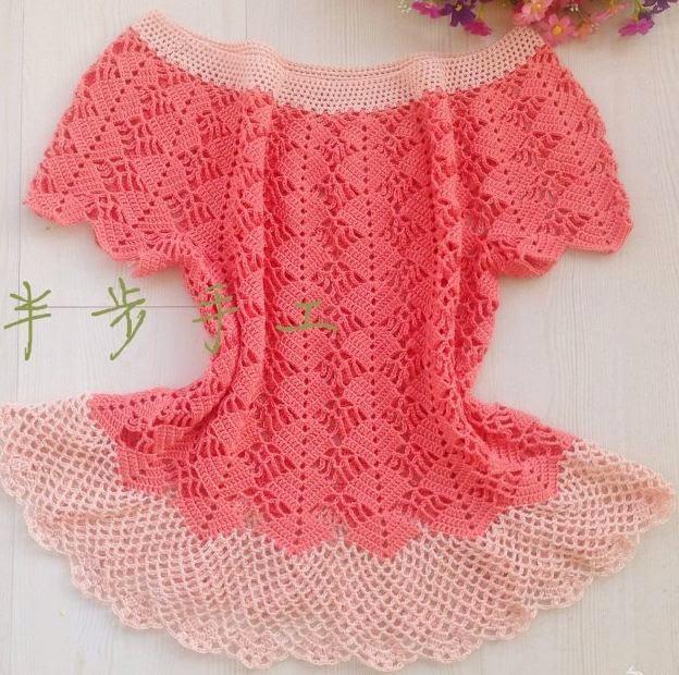 patr n crochet de delicada blusa talle grande crochet y