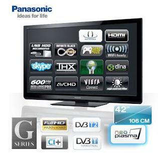 42 Zoll-Plasma-TV Panasonic VIERA TX-P42G30 bei iBood für 568,90 Euro Inklusive Versandkosten