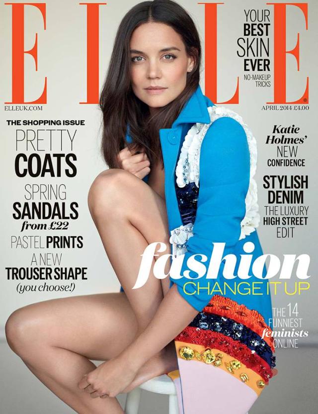 Katie Holmes en Elle Magazine