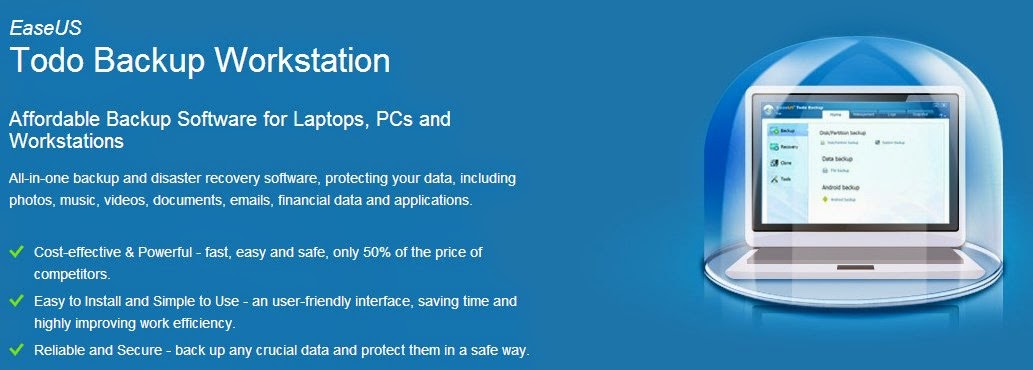 A comprehensive backup solution for Windows PCs : EaseUS Todo Backup Workstation
