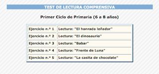 TEST DE LECTURA COMPRENSIVA.