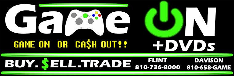 Gameonplusdvds.com - New and Used video games, Flint, Davison, Cash, Trade, Xbox One, PS4, Nintendo