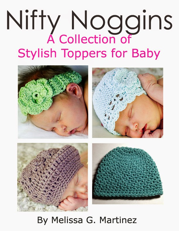 http://www.ravelry.com/patterns/sources/nifty-noggins-a-collection-of-stylish-toppers-for-baby