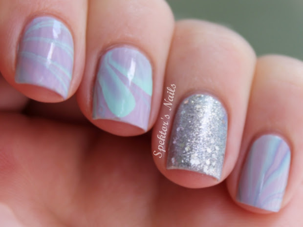 spektor's nails pastel water marble