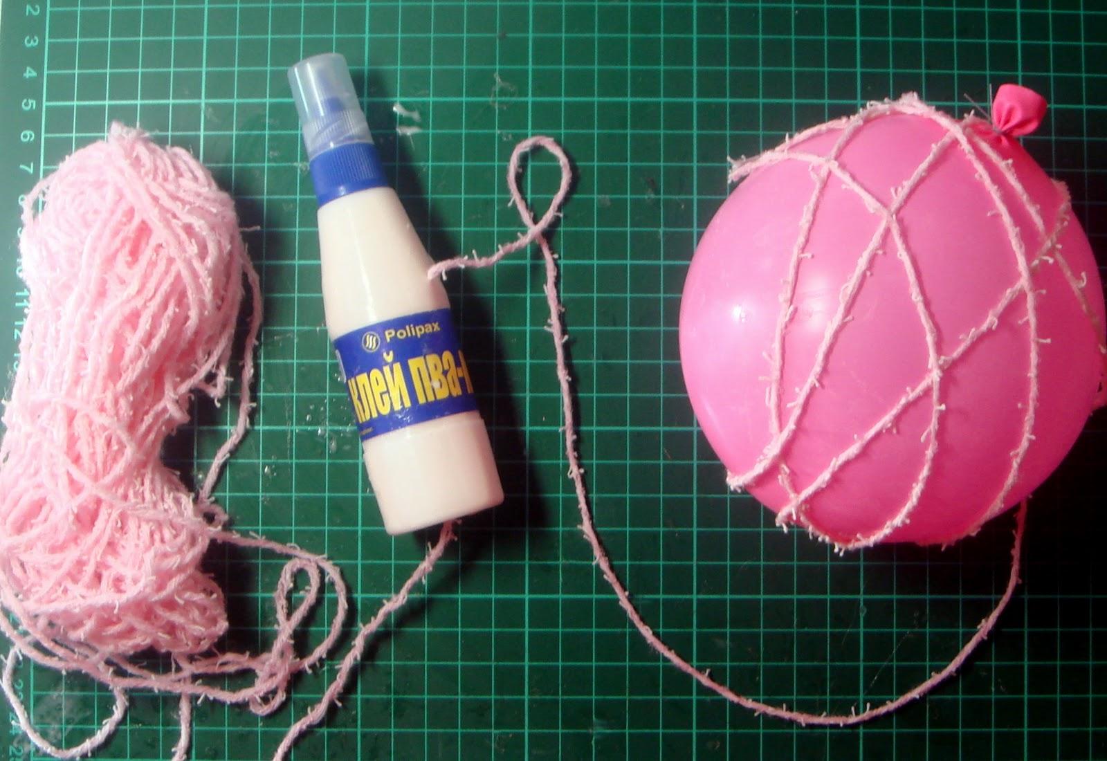Мастер класс воздушного шарика из ниток