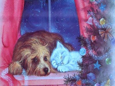 Villancicos de navidad de perros y gatos