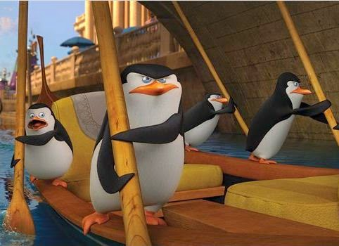 "Cena do filme ""Os Pinguins de Madagascar"""